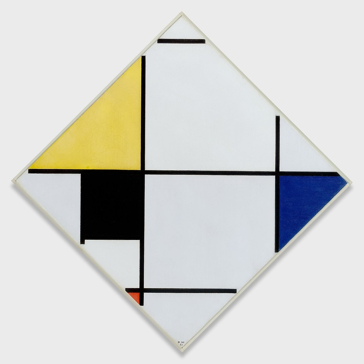 lozenge-composition-with-yellow-black-blue-red-and-gray