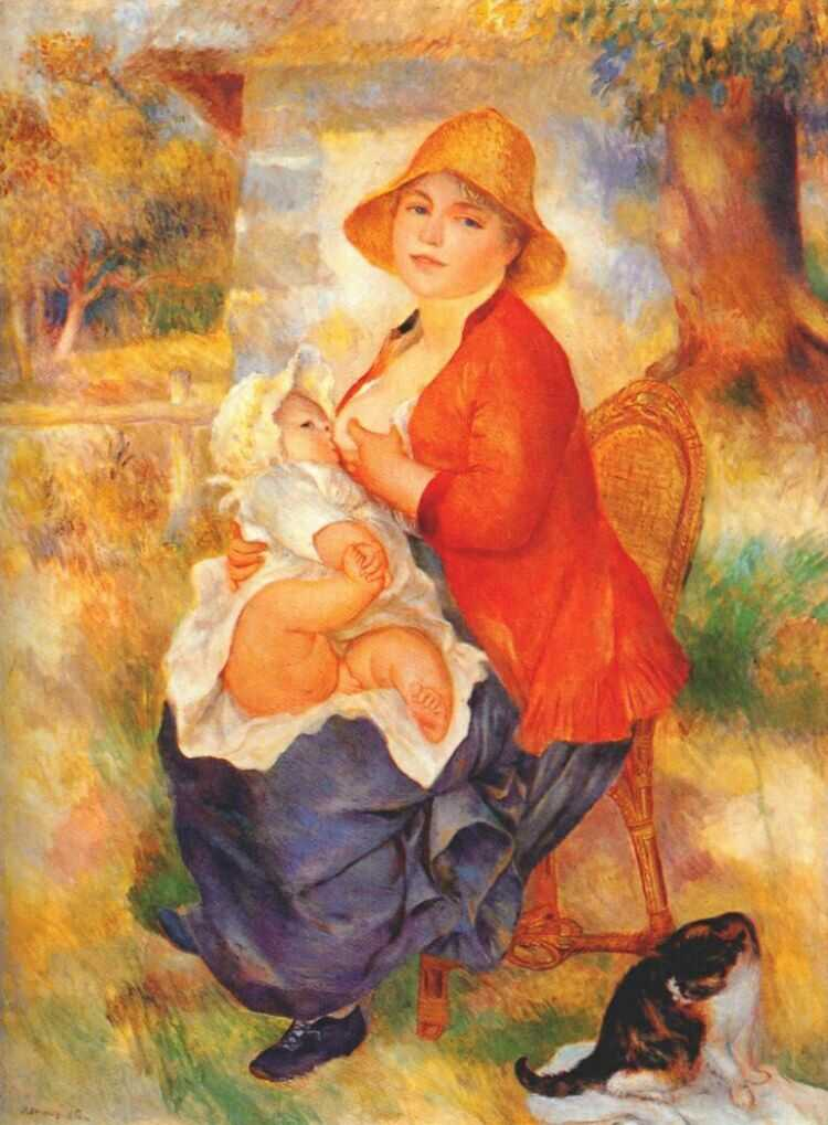 Mother Nursing Her Child by Pierre-Auguste Renoir