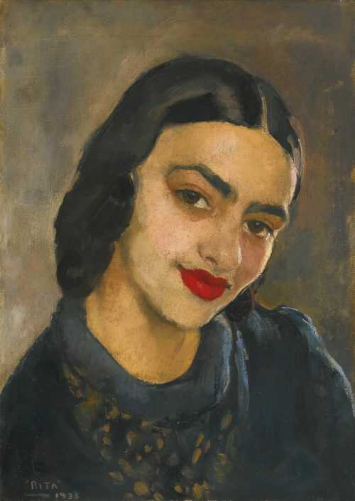 Indian famous painting, self portrait by Amrita Sher Gil